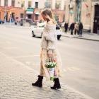 Кулечек с тюльпанами