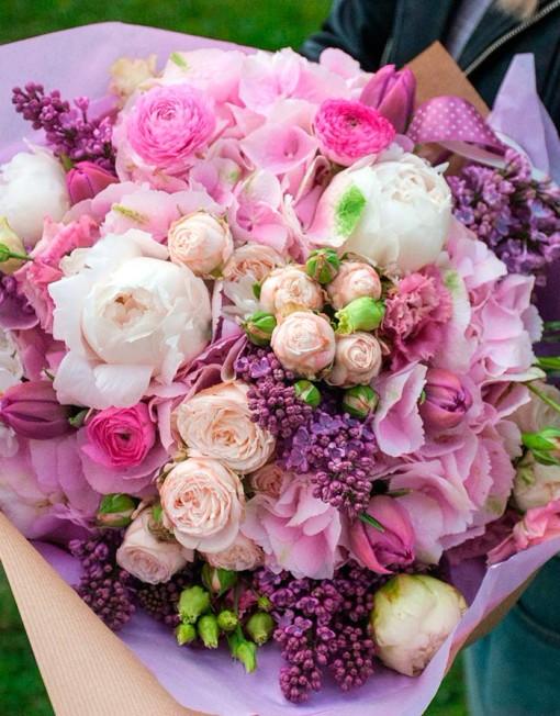 розы пионы фото