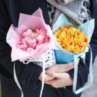 Кулёчек с пионовидными тюльпанами