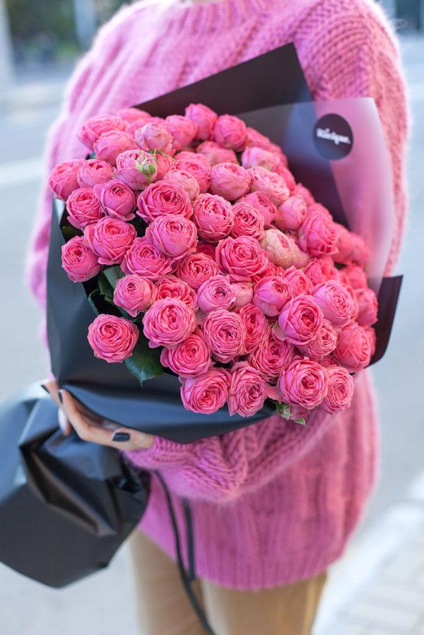 Монобукет из пионовидной розы Джизель